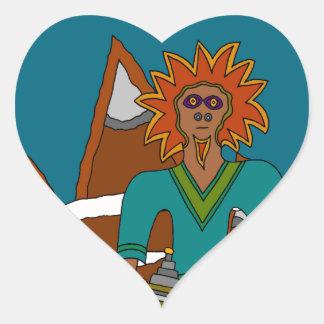 The Sky Walker Heart Sticker