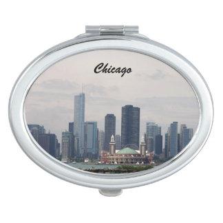 The Skyline of Chicago Vanity Mirror