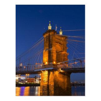 The skyline of Cincinnati, Ohio, USA at dusk Postcard