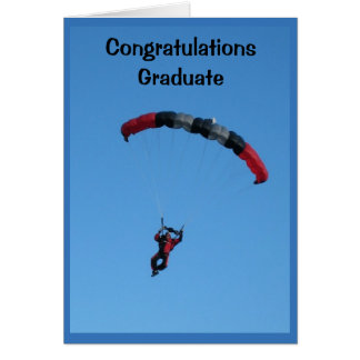 The Sky's The Limit Graduation Card With Skydiver