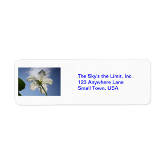 The Sky's the Limit! Return Address Label