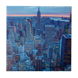 The skyscrapers of Manhattan are lit Tiles