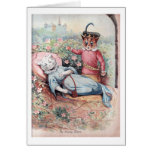 The Sleeping Beauty, Louis Wain Greeting Card
