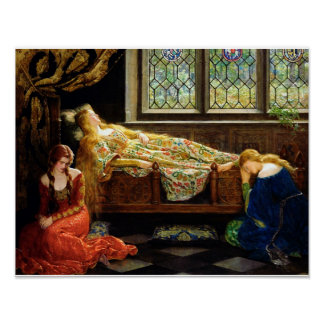 The Sleeping Beauty Oil on canvas painting Poster