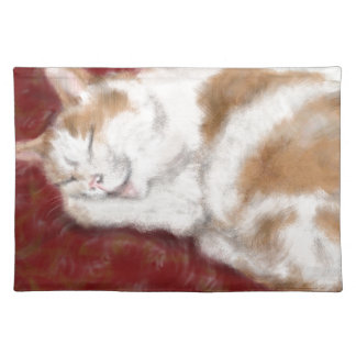 The sleeping cat placemat
