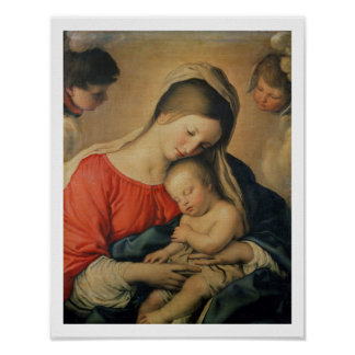 The Sleeping Christ Child (oil on canvas) Poster