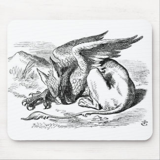The Sleeping Gryphon Mouse Pad