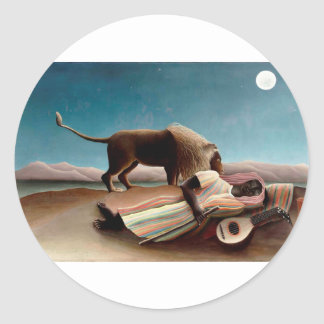 The Sleeping Gypsy Classic Round Sticker