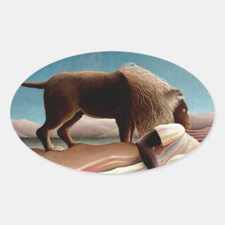 The Sleeping Gypsy Oval Sticker