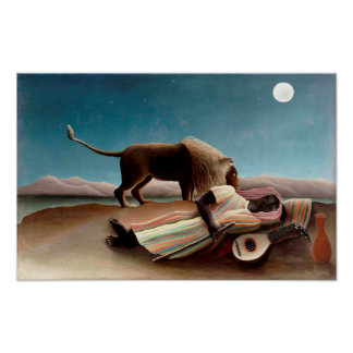 The Sleeping Gypsy Painting Poster