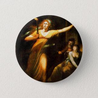 The Sleepwalking Lady Macbeth By Füssli Johann Hei 2 Inch Round Button