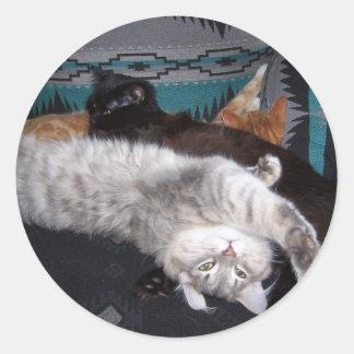 the sleepy bunch round sticker