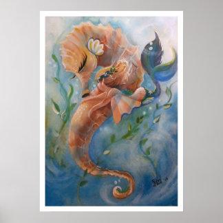 The Sleepy Sea Horse Posters