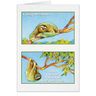 The Sloth Greeting Card Philippians 4:13