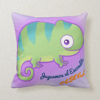 The Small Chameleon Throw Pillow