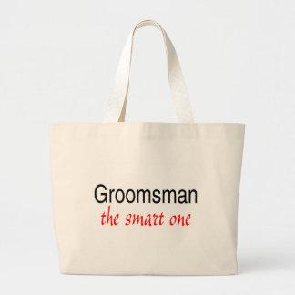 The Smart One (Groomsman) Jumbo Tote Bag