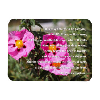 The Smile That Shines Through The Tears Rectangular Photo Magnet