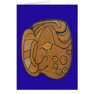 THE SMILING MAYAN MEDALLION CARD