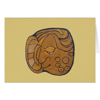 THE SMILING MAYAN MEDALLION- GOLDEN SAND CARD