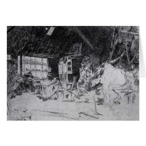 The smithy by James Abbott McNeill Whistler Cards
