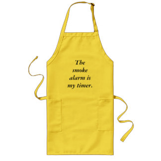 The smoke alarm is my timer apron