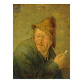 The Smoker, 1640 Postcard