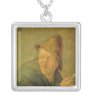 The Smoker, 1640 Silver Plated Necklace
