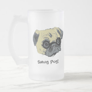 The Smug Pug Dog Frosted Mug