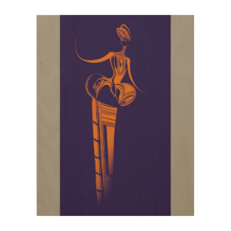 """THE SNAKE GODDESS 11""""x14"""" Wood Wall Art Wood Canvases"""