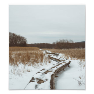 The Snow Covered Boardwalk Photo Print