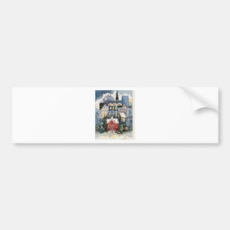 The snow eve bumper sticker