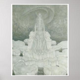 The Snow Queen, Vintage Fantasy Art Print