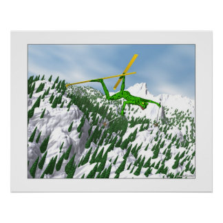 The Snow Skier Poster