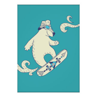 The snowboard poster