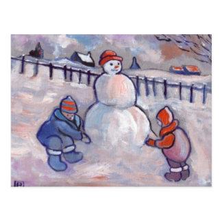 THE SNOWMAN POSTCARD