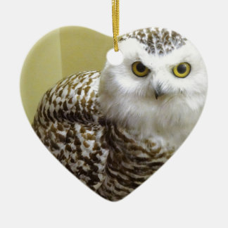 The Snowy Owl Ceramic Ornament