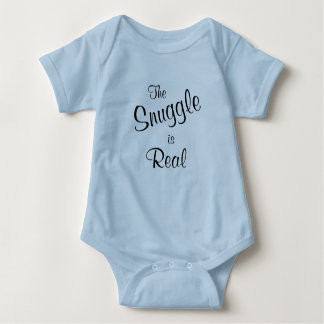 The Snuggle is Real Baby Blue One Piece Tee