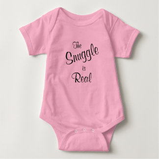 The Snuggle is Real Baby Pink One Piece Tee