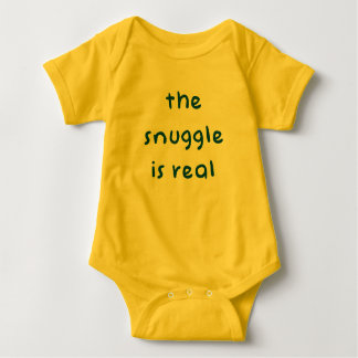 The Snuggle is Real - Cute Baby Bodysuit