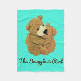 The Snuggle is Real Fleece Blanket