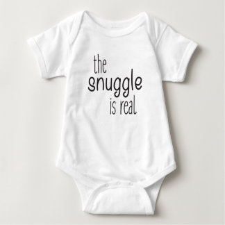The snuggle is real, funny baby bodysuit