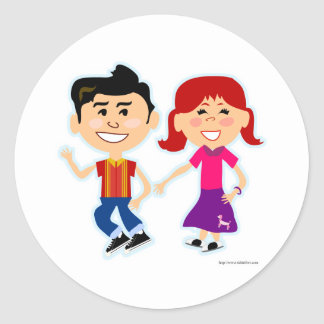 The Sock Hop Kids Classic Round Sticker