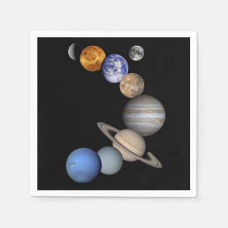 The Solar System Disposable Napkin