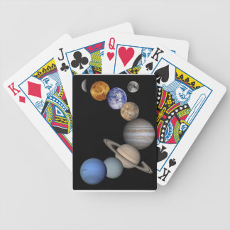 The solar system range our planets bicycle playing cards