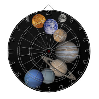 The solar system range our planets dartboard