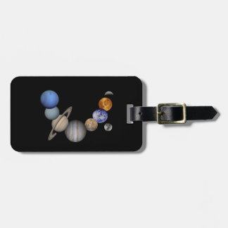 The solar system range our planets luggage tag