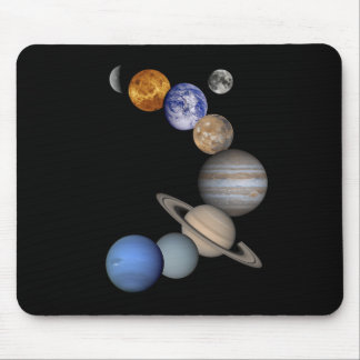 The solar system range our planets mouse pad