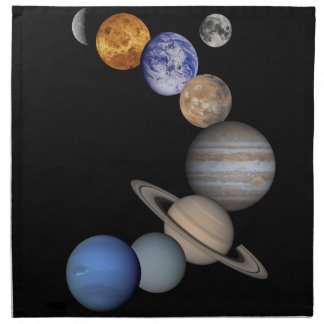 The solar system range our planets napkin