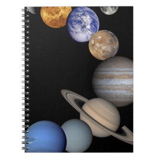 The solar system range our planets notebooks