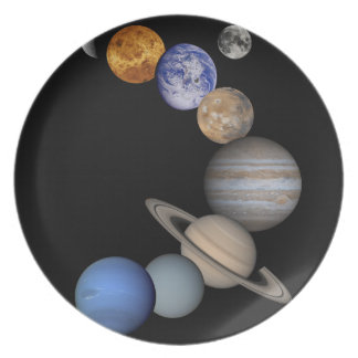 The solar system range our planets plate